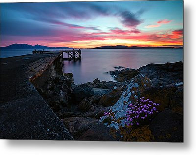 Jetty Sunset 2 Metal Print by Fiona Messenger