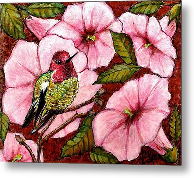 Metal Print featuring the painting Jewel Among Blooms by VLee Watson