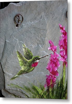 Metal Print featuring the photograph Jewel In Flight by Rhonda McDougall