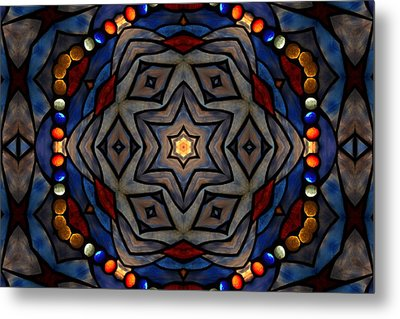 Jeweled Flower Metal Print by Chad Wasden