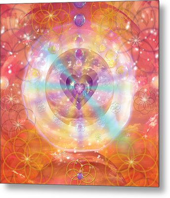 Jeweled Heart Of Happiness Metal Print by Alixandra Mullins