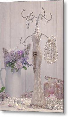 Jewellery And Pearls Metal Print by Amanda Elwell