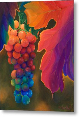 Metal Print featuring the painting Jewels Of The Vine by Sandi Whetzel