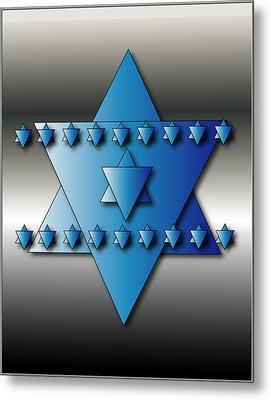 Jewish Stars Metal Print by Marvin Blaine