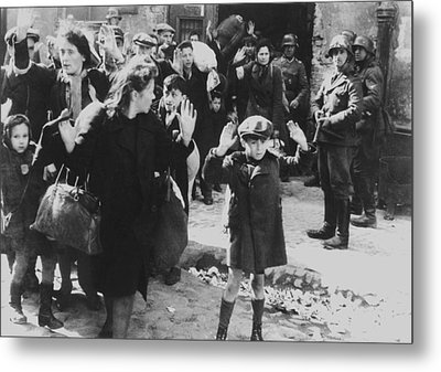 Jews Captured By German Soldiers Metal Print by Everett