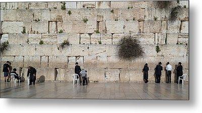 Jews Praying At Western Wall Metal Print
