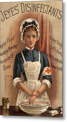 Jeyes 1890s Uk Nurses  Disinfectant Metal Print by The Advertising Archives