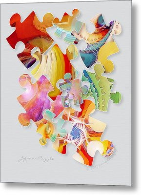 Jigsaw Puzzle Metal Print by Gayle Odsather