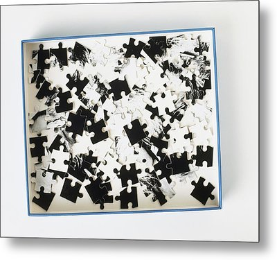 Jigsaw Puzzle Pieces Metal Print
