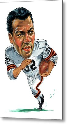 Jim Brown Metal Print by Art