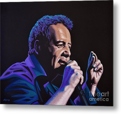 Jim Kerr Of The Simple Minds Painting Metal Print