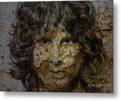 Jim Morrison Metal Print by Louis Ferreira