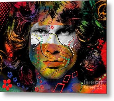 Jim Morrison Metal Print by Mark Ashkenazi