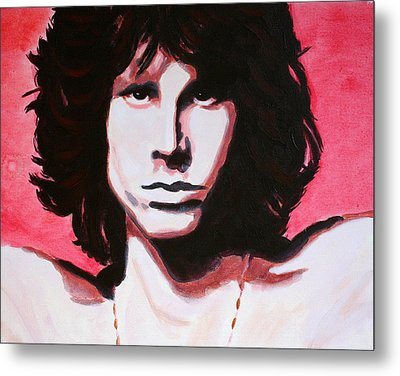 Jim Morrison Of The Doors Metal Print by Bob Baker