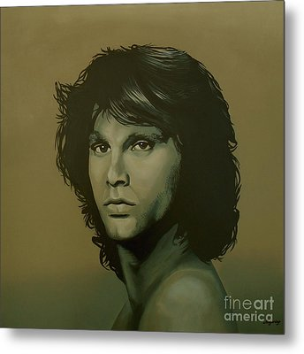 Jim Morrison Painting Metal Print by Paul Meijering