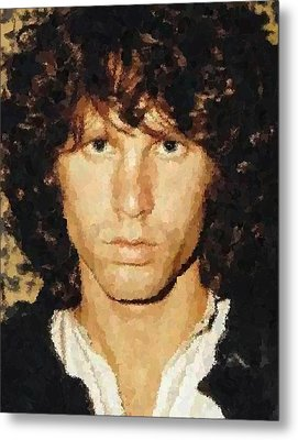 Jim Morrison Portrait Metal Print