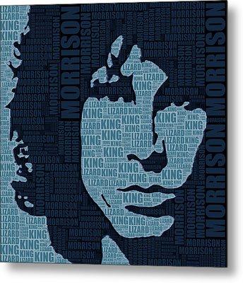 Jim Morrison The Doors Metal Print by Tony Rubino