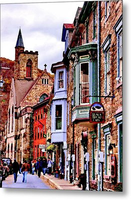 Metal Print featuring the photograph Jim Thorpe Pa Stone Row by Jacqueline M Lewis