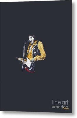 Jimi At Monterey 1 Metal Print by Martin Howard