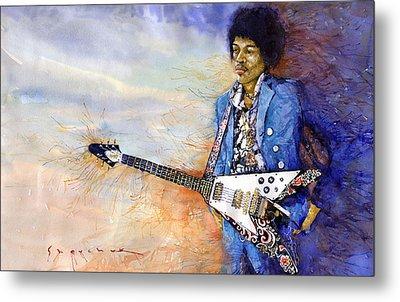Jimi Hendrix 10 Metal Print by Yuriy Shevchuk