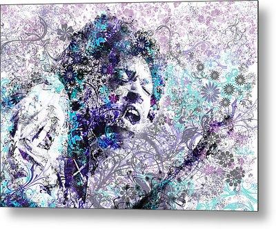 Jimi Hendrix 3 Metal Print