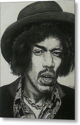 Jimi Hendrix Metal Print by Aaron Balderas
