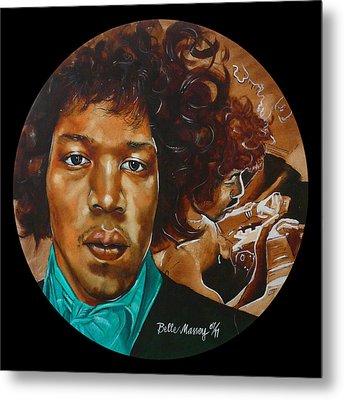 Jimi Hendrix B Metal Print