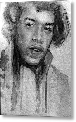 Metal Print featuring the painting Jimi Hendrix by Laur Iduc
