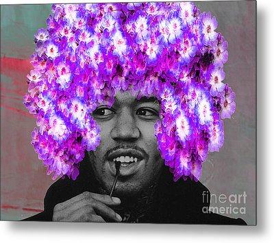 Jimi Hendrix Purple Haze Metal Print by Marvin Blaine