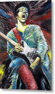Jimi Hendrix Spanish Castle Magic Metal Print by Mike Underwood