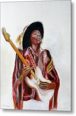 Jimi Metal Print by Tom Conway