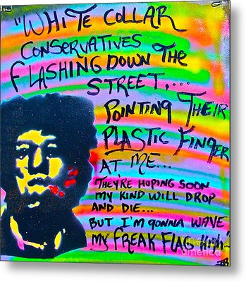 Jimi's Freak Flag Metal Print by Tony B Conscious