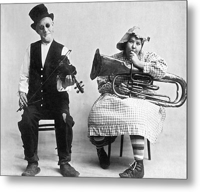 Jimmie And Blanche Creighton Metal Print by Underwood Archives