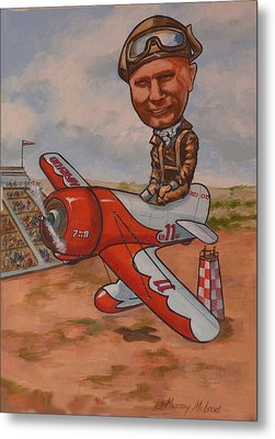Metal Print featuring the painting Jimmy Doolitle by Murray McLeod