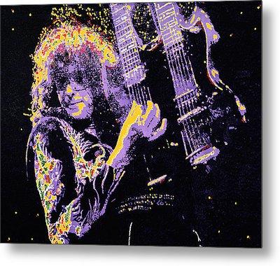Jimmy Page Metal Print by Barry Novis