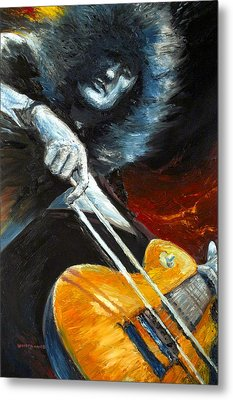 Jimmy Page Dazed And Confused Metal Print by Mike Underwood