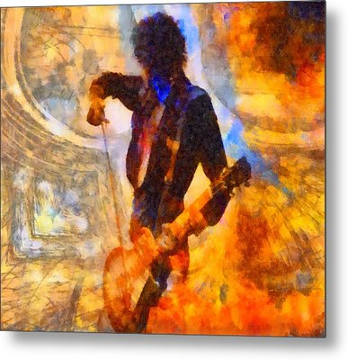 Jimmy Page Playing Guitar With Bow Metal Print