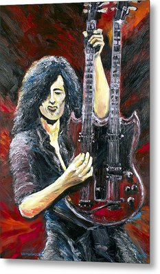 Jimmy Page The Song Remains The Same Metal Print by Mike Underwood