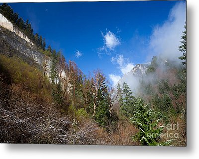 Jiuzhaigou Mountain Pinnacle Landscape China Metal Print by Fototrav Print