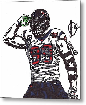 Jj Watt 1 Metal Print by Jeremiah Colley