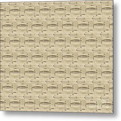 Jl Canoe Brown Douvet Pillow Design Metal Print
