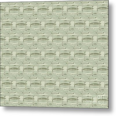 Jl Canoe Sage Douvet Pillow Design Metal Print