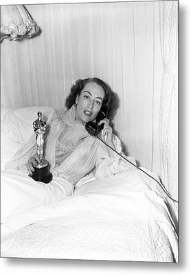Joan Crawford - Academy Award Metal Print