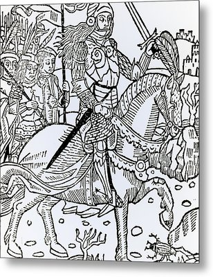Joan Of Arc Metal Print by French School