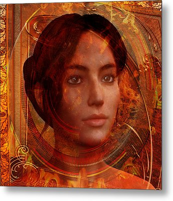 Joan Of Arc Holy Fire Metal Print