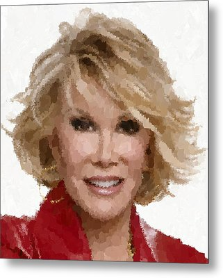 Joan Rivers Portrait Metal Print