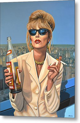 Joanna Lumley As Patsy Stone Metal Print by Paul Meijering