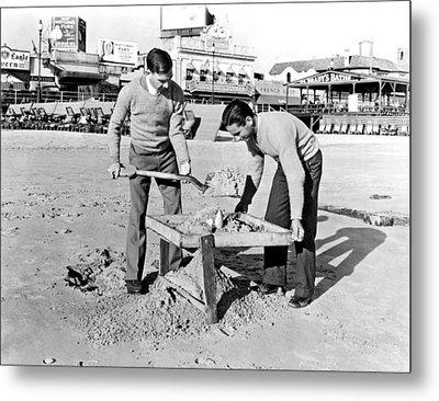 Jobless College Graduates Join The Ranks Of Beachcombers In Atla Metal Print by Underwood Archives