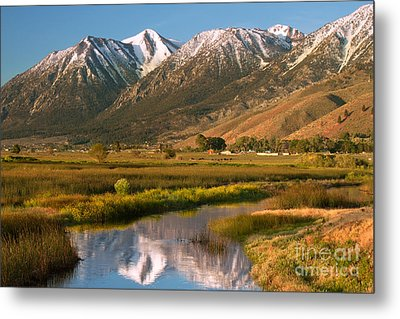 Job's Peak Reflections Metal Print by James Eddy