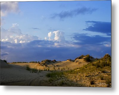 Metal Print featuring the photograph Jockey's Ridge State Park by Skip Tribby